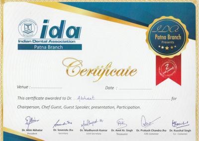 certificate-by-ida
